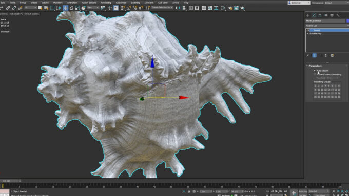 Autodesk 3ds Max 2022 - Smooth Modifier