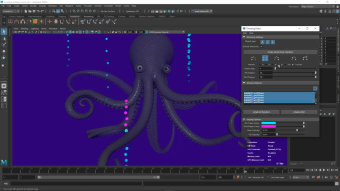 Autodesk Maya 2022 - Ghosting Editor