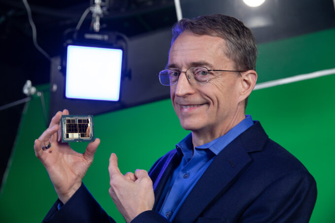 Intel's Pat Gelsinger Holding Ponte Vecchio Exascale GPU