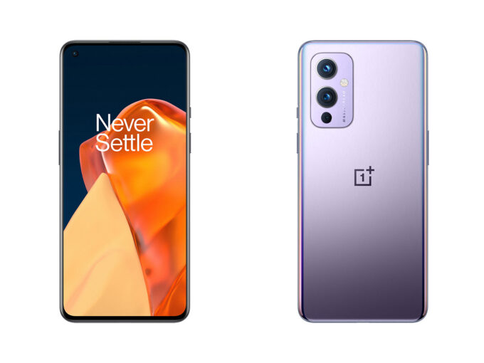 OnePlus 9 - Front and Back