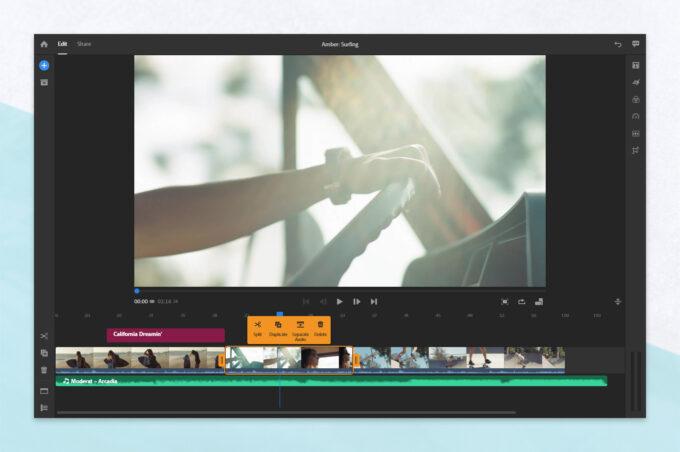 Adobe Premiere Rush Context Menu