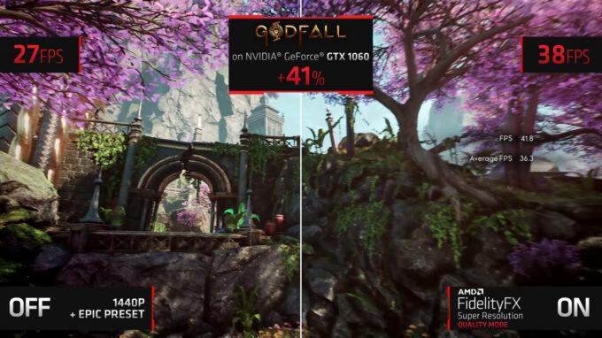 AMD FidelityFX Super Resolution Running On GeForce