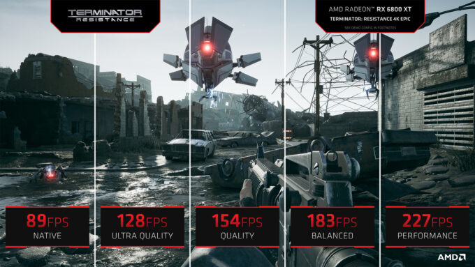 Terminator Resistance FidelityFX Super Resolution