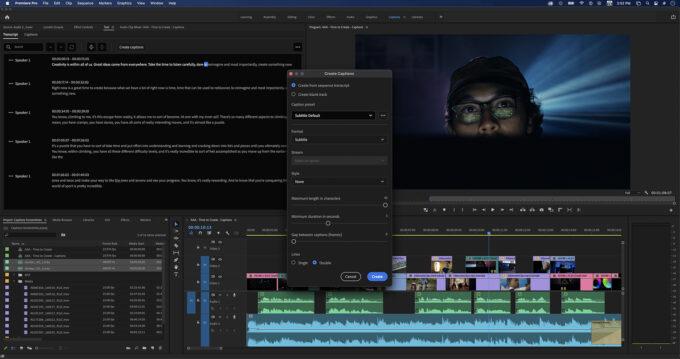 Adobe Premiere Pro - Speech-to-Text Captions