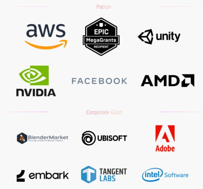 Blender Corporate Sponsors (July 2021)