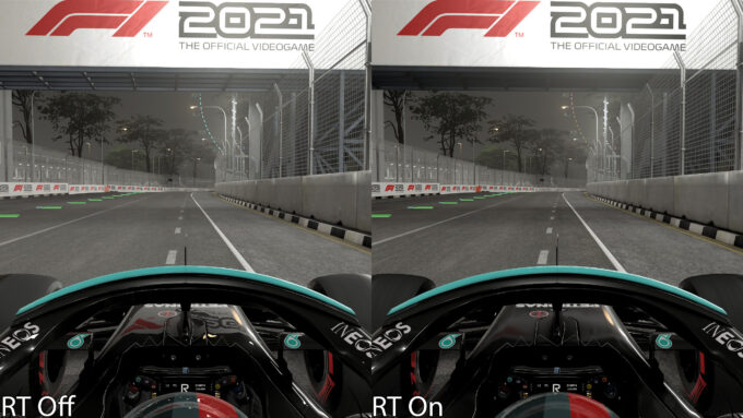 F1 2021 - Ray Tracing Reflections Off vs On