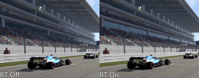 F1 2021 - Ray Tracing Shadows Off vs On