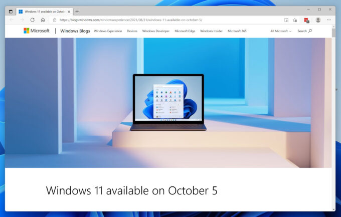 Edge in Windows 11