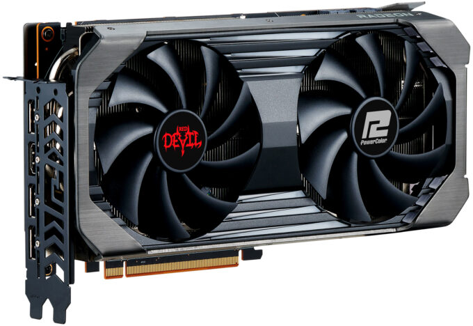 PowerColor Radeon RX 6600 XT Red Devil - Angled