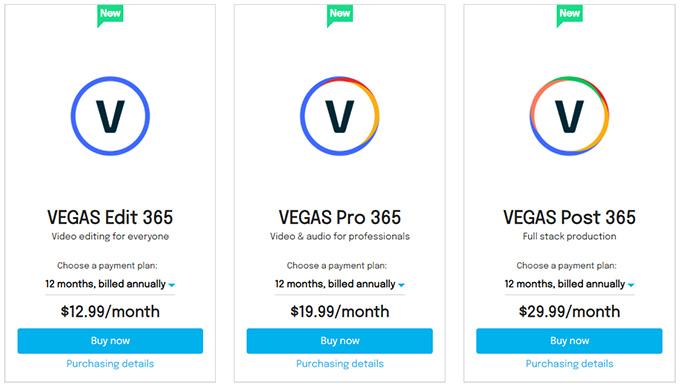 Vegas 19 Subscription Model