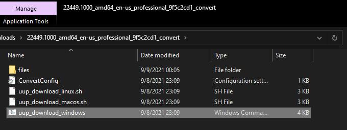 UUP dump Windows ISO Script
