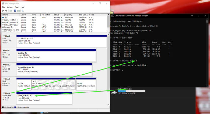 Verifying Disk Number In Windows
