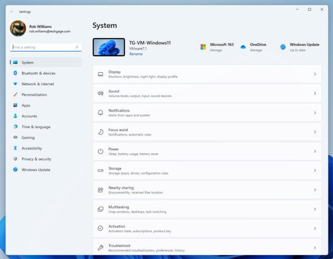 Windows 11 - Settings App