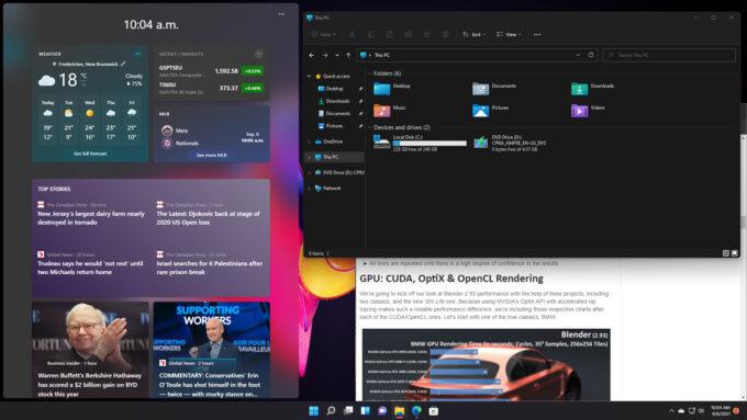 Windows 11 - Slightly Customized Desktop