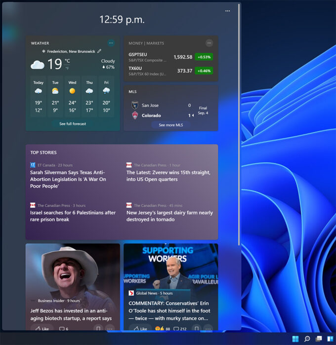 Windows 11 - Widget