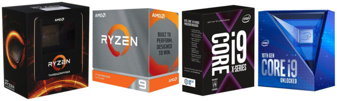 AMD and Intel Processor Boxes